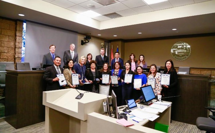 Garden Grove City Council Recognizes Success of GGUSD's Dual Language Academy - article thumnail image